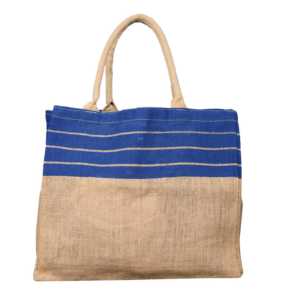 Multipurpose Jute Bag - Stripped Blue (Bulk Only) - EcoLoom