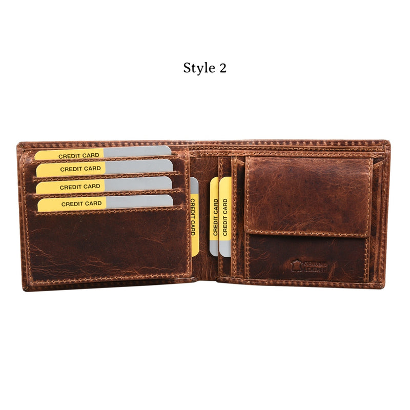 Worn Out Style Tri-fold Wallet (Bulk Only) - [Ecoloom]