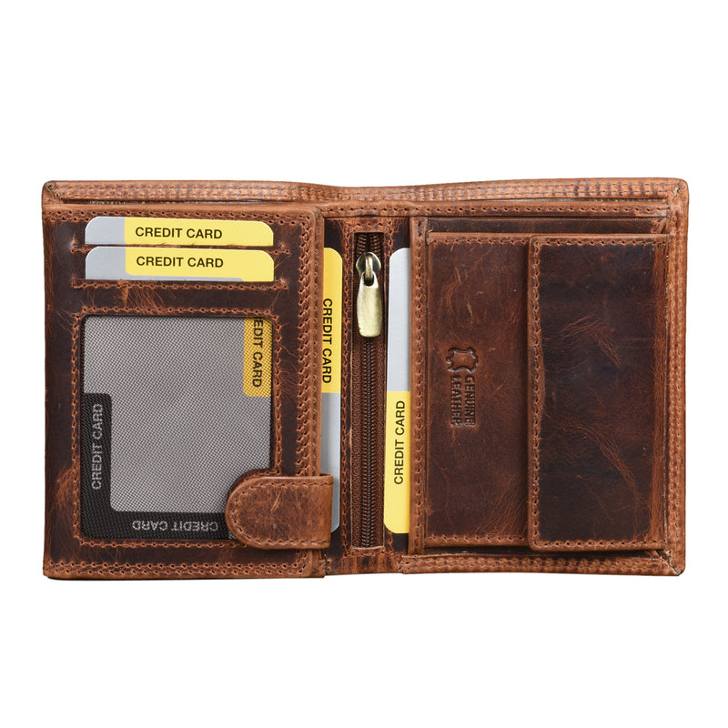 Tan Pull Up Wallet - EcoLoom