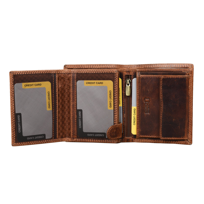 Tan Pull Up Wallet - [Ecoloom]