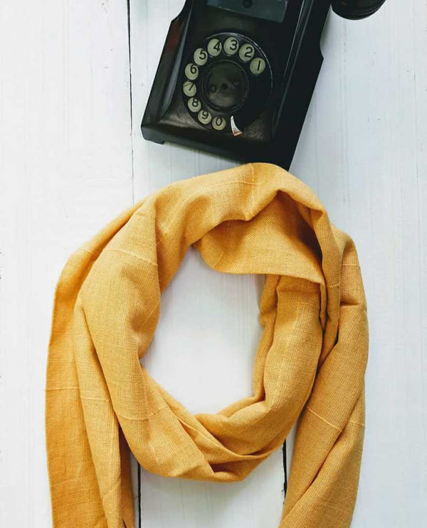 Hand-woven cotton Scarf - [Ecoloom]