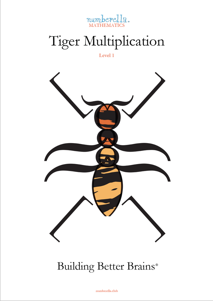 Front Cover saying Tiger Multiplication Level 1