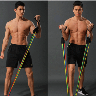 17 Piece Resistance Band Set
