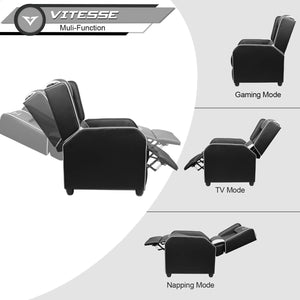 Gaming Recliner Chair Racing (White)
