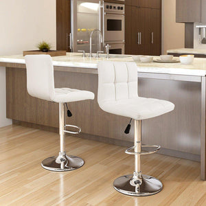 $149 2 Modern Pu Leather Swivel Adjustable Hydraulic Bar Stools