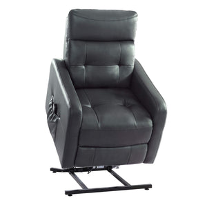 Homelegance 9860 Power Lift Recliner with Massage & Heat, Gray