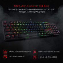 Load image into Gallery viewer, Redragon K582-BA Wired Mechanical Gaming Keyboard & M711 Cobra Gaming Mouse
