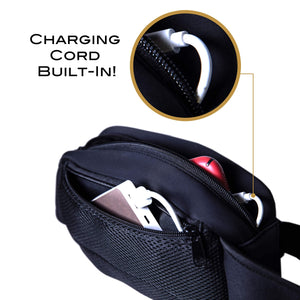Fanny Pack with Charger Bank +charging cord for iphone 11 XS XR X/8/7 Galaxy S10 S9 S8