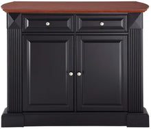 Load image into Gallery viewer, Drop Leaf Kitchen Island/Breakfast Bar, Black