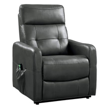 Load image into Gallery viewer, Homelegance 9860 Power Lift Recliner with Massage & Heat, Gray