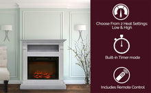 Load image into Gallery viewer, Fireplace Mantel with Electronic Fireplace Insert, White