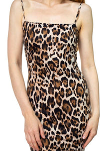 Sleeveless Leopard Mini Dress