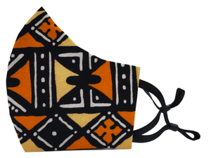Salama Face Mask (Orange Tribal Ankara)