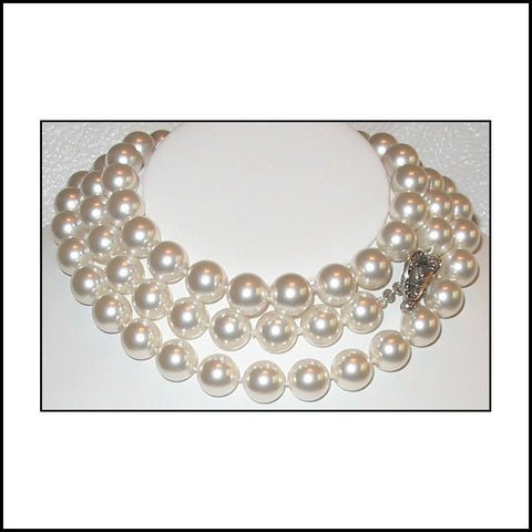 Edie Hand-Knotted Pearl Wrap Necklace - White