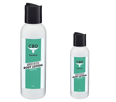 CBD Ranch: Unscented 4oz Body Lotion 100mg