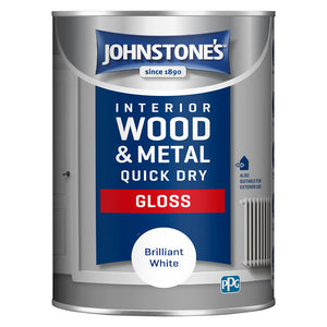 Johnstone's Interior Wood and Metal Quick Dry Gloss Brilliant White Paint