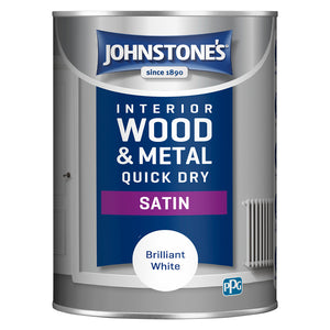 Johnstone's Interior Wood and Metal Quick Dry Satin Brilliant White