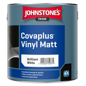 Johnstone's Covaplus Vinyl Matt 2.5 Brilliant White Paint