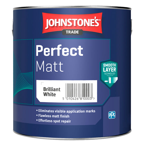 Johnstone's Trade Perfect Matt Brilliant White 2.5L Paint