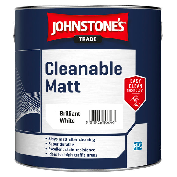 Johnstone's Trade Cleanable Matt Brilliant White Paint