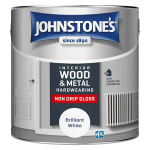 Johnstone's Wood and Metal Hardwearing Non Drip Gloss Brilliant White