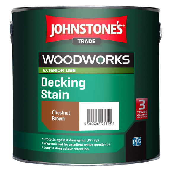 Johnstone's Trade Woodworks Decking Stain Paint