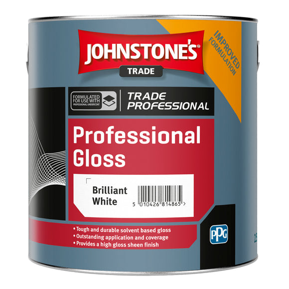 Johnstone's Professional Gloss Brilliant White 2.5L Paint