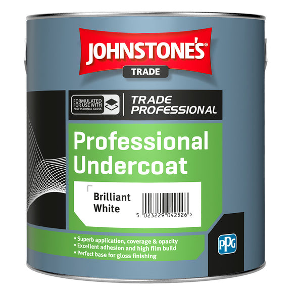 Johnstone's Trade Professional Undercoat 2.5L Brilliant White