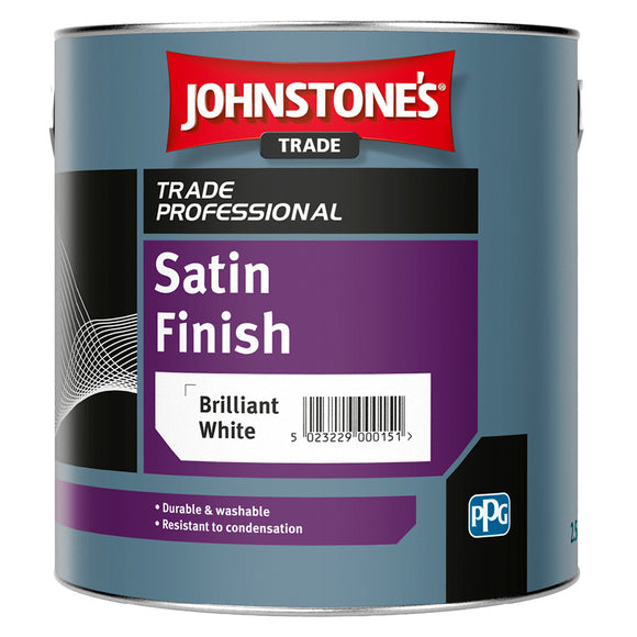Johnstones Trade Satin Finish Brilliant White 2.5L