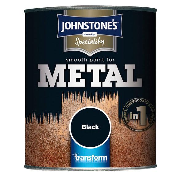 Johnstone's Speciality Smooth Paint for Metal Black
