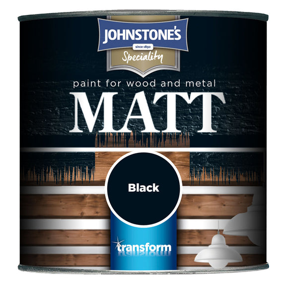Johnstone's Paint for Wood and Metal Matt Black