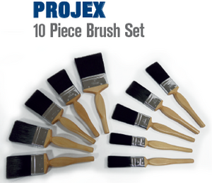 Projex 10 Piece Paint Brush Set