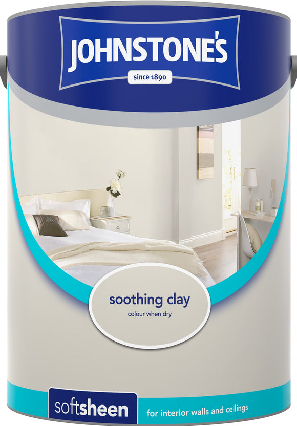 Johnstone's Soft Sheen Paint - Soothing Clay - 5L