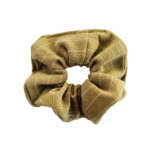 OLIVE STRIPE SCRUNCHIE