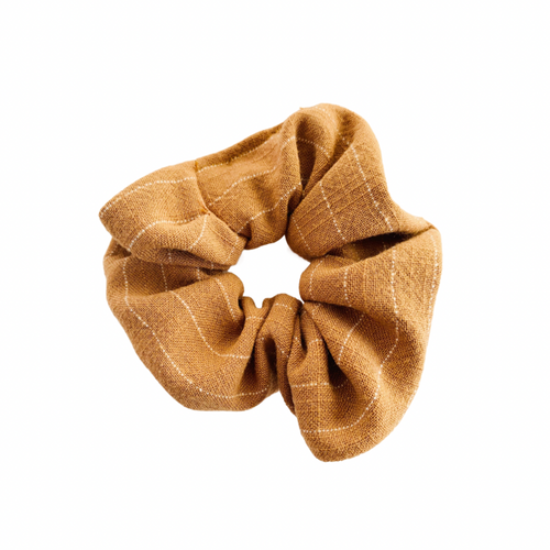 TOFFEE STRIPE SCRUNCHIE
