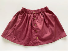 Load image into Gallery viewer, BUTTON SKIRT BURGUNDY