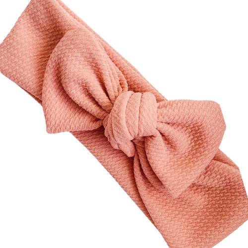 TILLY KNOT HEADBAND PEACHY PINK
