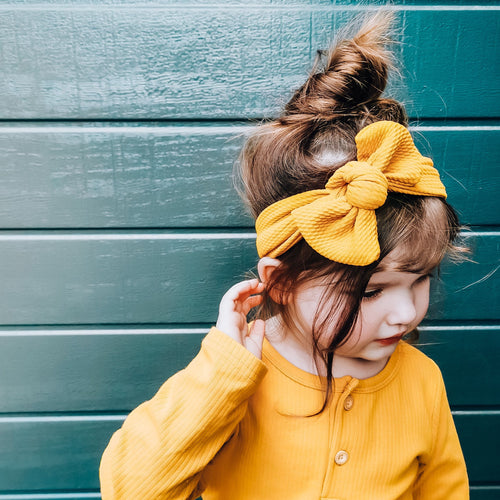 TILLY KNOT HEADBAND MUSTARD