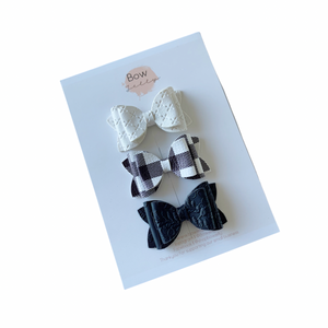 MONOCHROME MINI BOW SET