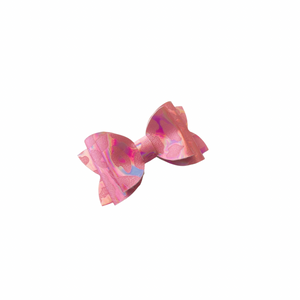 LEOPARD PINK MINI BOW