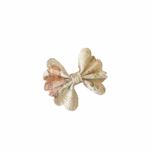 PEACH LACE MINI SCALLOPED FANTAIL