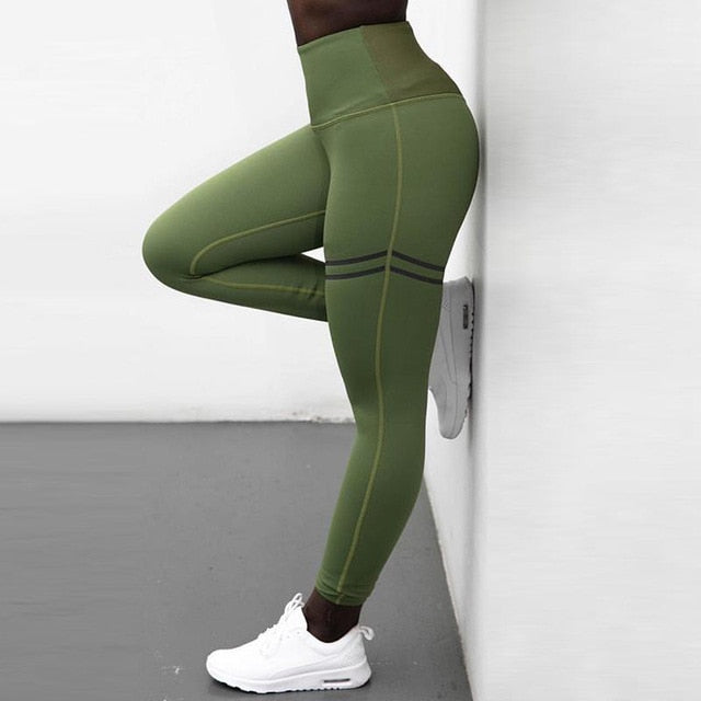 Print Leggings Exercise Fitness (NO TRANSPARENT)