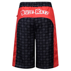 Surf Ratz Panel Board Shorts – Red/Black