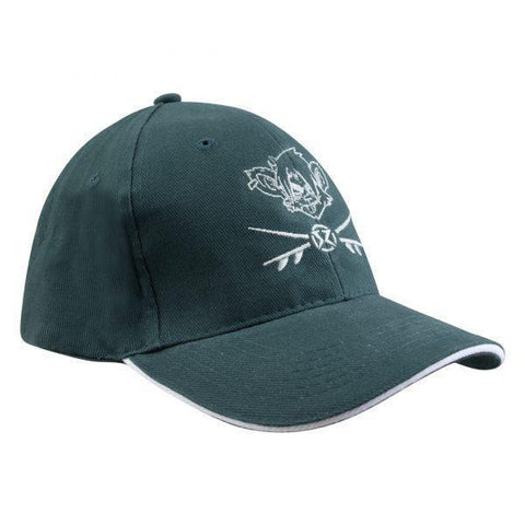 RatHead Baseball Cap – Bottle Green/White