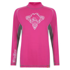 RatTatt Sun Protection Top & Rash Guard (Adults) – Grey / Pink