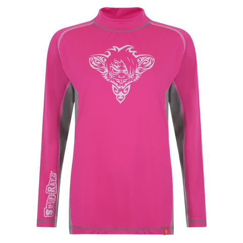 RatTatt Sun Protection Top & Rash Guard (Kids) – Grey / Pink