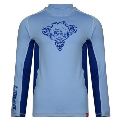 RatTatt Sun Protection Top & Rash Guard (Kids) – Sky Blue/Navy