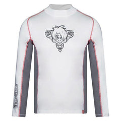 RatTatt Sun Protection Top & Rash Guard (Kids) – White/Grey