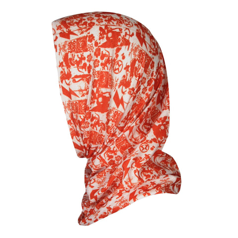 SuperGrunge UV Protection Bandana – Orange/Ivory