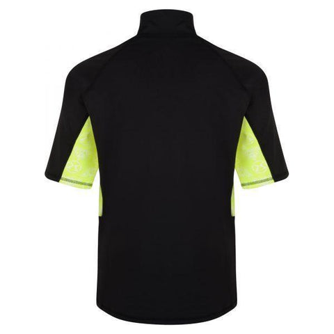 Surf Ratz Adult Surfing Rash Guard Shirt – Black & Yellow